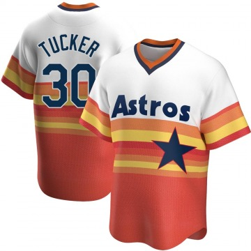 Men's Kyle Tucker Houston Astros Replica White Home Cooperstown Collection Jersey