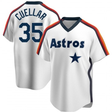 Men's Mike Cuellar Houston Astros Replica White Home Cooperstown Collection Team Jersey