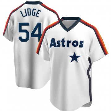 Youth Brad Lidge Houston Astros Replica White Home Cooperstown Collection Team Jersey