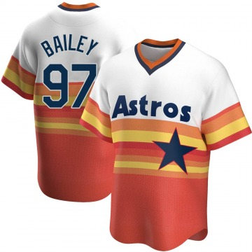 Youth Brandon Bailey Houston Astros Replica White Home Cooperstown Collection Jersey