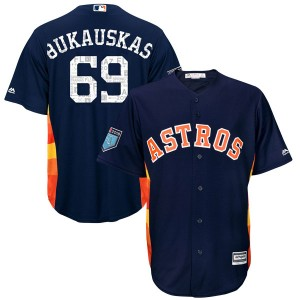 Youth Majestic J.B. Bukauskas Houston Astros Authentic Navy Cool Base 2018 Spring Training Jersey