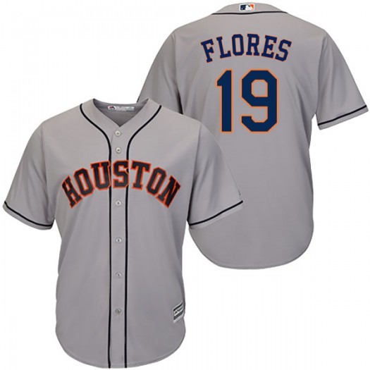 Men's Majestic Alejandro Flores Houston Astros Replica Gray Cool Base Road Jersey